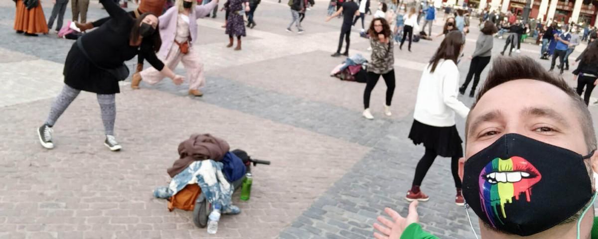 'La Plaga del Baile', acción de baile colectivo con auriculares